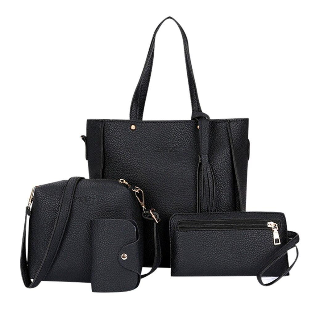 Xiniu Wallet Handbag Bags Bolsa Four-Piece Shoulder Fashion 4pcs Brand Feminina Women