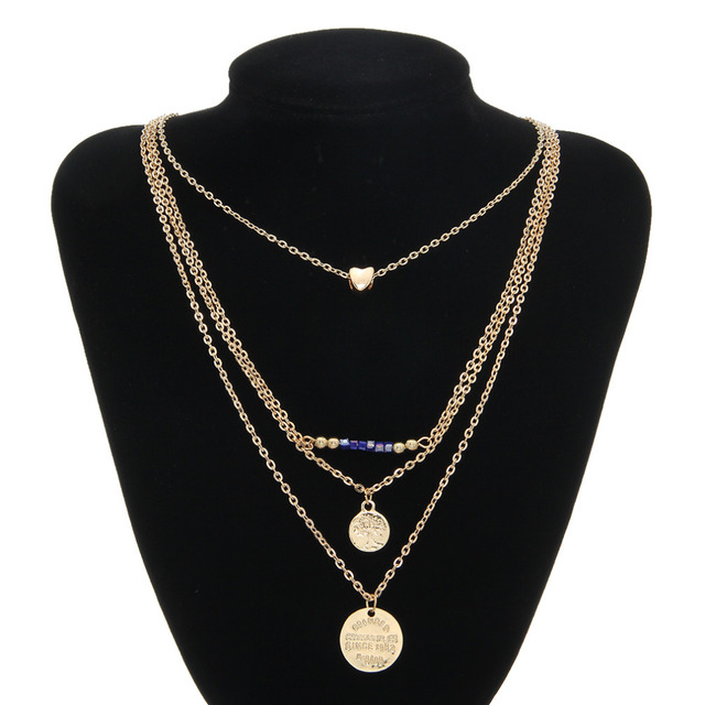 Charms gold chain 4 in 1 pendants necklace for women girl online charms gold chain 4 in 1 pendants necklace for women girl online shopping india fine jewelry aloadofball Gallery