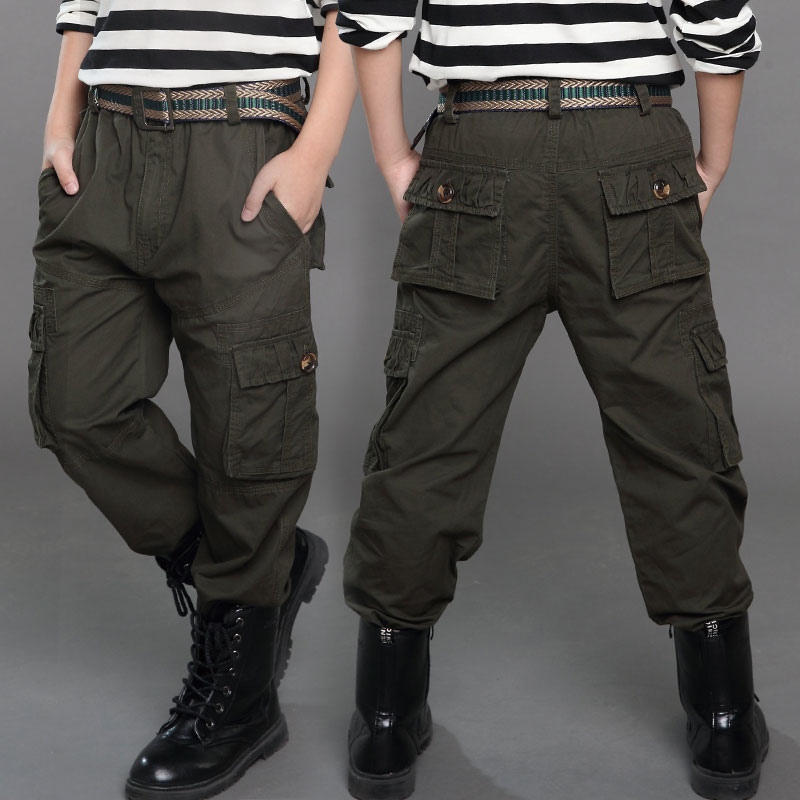2018 NEW Teenage Boy Clothing Kids Cargo Trousers Kids Pants Boys Trousers Camo Pants Boys Military Pants Big Size 5 7 9 12 13 цена