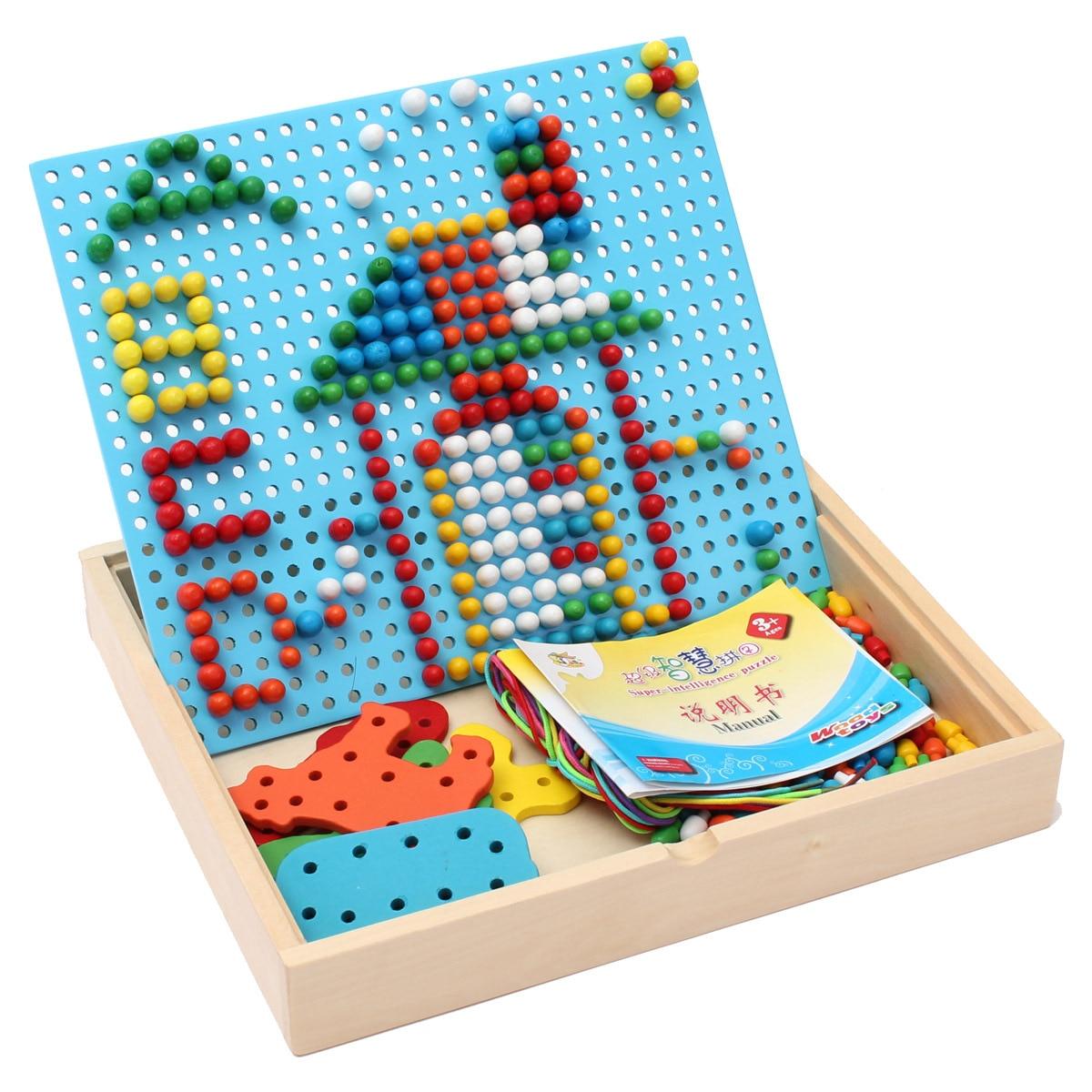 Livraison gratuite enfants en bois jouets super intelligent puzzle, petit champignon puzzle, enfants en bois de jouets Montessori
