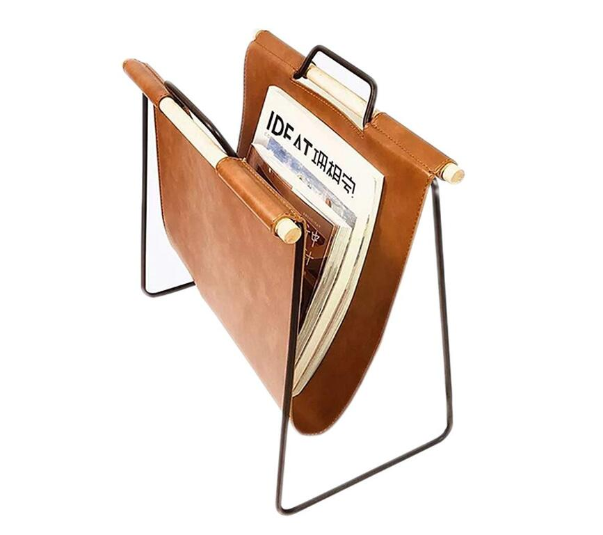 Office Decorative Magazine Newspaper Rack Metal Floor Data Storage Holder For Bedroom Study Living Room Magazine Holder Stand