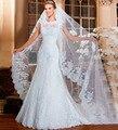 Branco Fresco Olhando Apliques Beaded Vestido de Noiva Jacket Removível Vestidos de Casamento Elegantes com Bainha Destacável Train