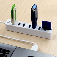 card reader High Speed USB 2.0 HUB Combo 6 Ports Expander Multi USB Splitter With SD/TF Card Reader for PC Computer Tablet Accessories (4)
