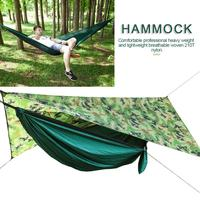 Anti UV Mosquito Net Hammock Set Outdoor Camping Automatic Open Hammock With Wind Rope Nails Portable