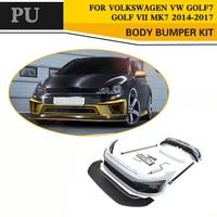 ПУ Неокрашенный Стиль кузова Наборы для Volkswagen VW Golf VII MK7 GTI R 2014 2017