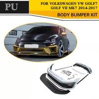PU Unpainted Style Car Body Kits for Volkswagen VW Golf VII MK7 GTI R 2014 2017