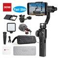 Zhiyun Smooth 4 стабилизатор 3-осевой Ручной Стабилизатор для смартфона Gopro камера iPhone Xs X 8 Plus (управление тягой и зумом) VS Osmo 2