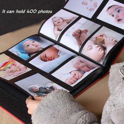 Frameless 6 400 Leather Photo Album Book Good Quality Baby Family