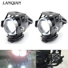 Universal 12V Motorcycle Metal Headlight Fog Light For Yamaha YBR 125 YZF R1 R3 R6 R125 R25 TTR RSZ CBR600 YZF600 MT 03 25