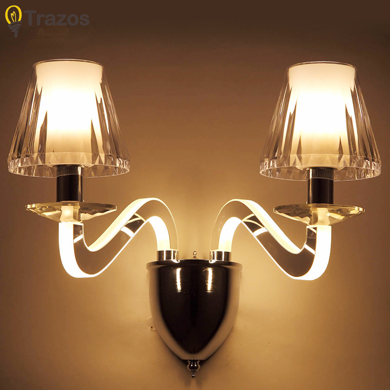 Led Modern Wall Lamp Acrylic Sconce 6W/12W Wandlamp For Bedroom Bathroom Applique Murale Luminaire Mirror Wall Light Fixtures fabic shade nordic modern led wall lamp for home bedroom stair light wall sconce applique murale luminaire wandlamp