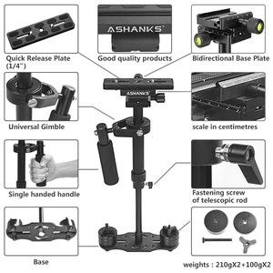 Image 3 - ASHANKS S40 40CM Handheld Steadycam Stabilizer For Steadicam Canon Nikon GoPro AEE DSLR Video Camera LY08
