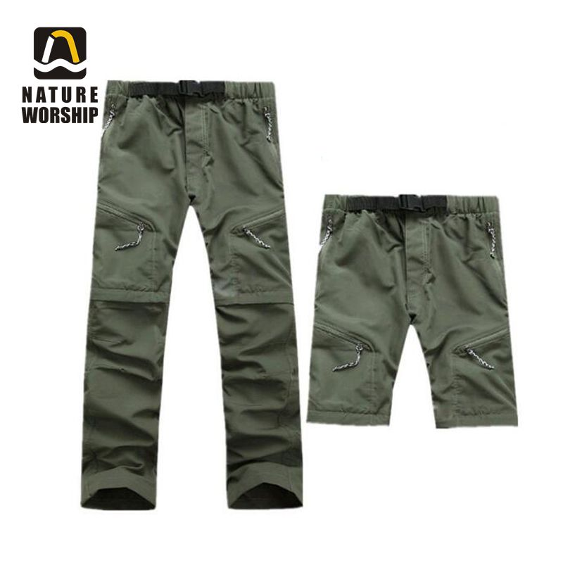 Outdoor Summer Spring Men Hiking Quick-Dry Pants Zipper Fly Detachable Thin Breathable Slim Climbing Fishing Sports Trousers esdy 619 men s outdoor sports climbing detachable quick drying polyester shirt camouflage xxl