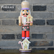 36cm Wood crafts home decoration nutcrackers Chef Nutcrackers Puppet Europe style Home ornament sculpture