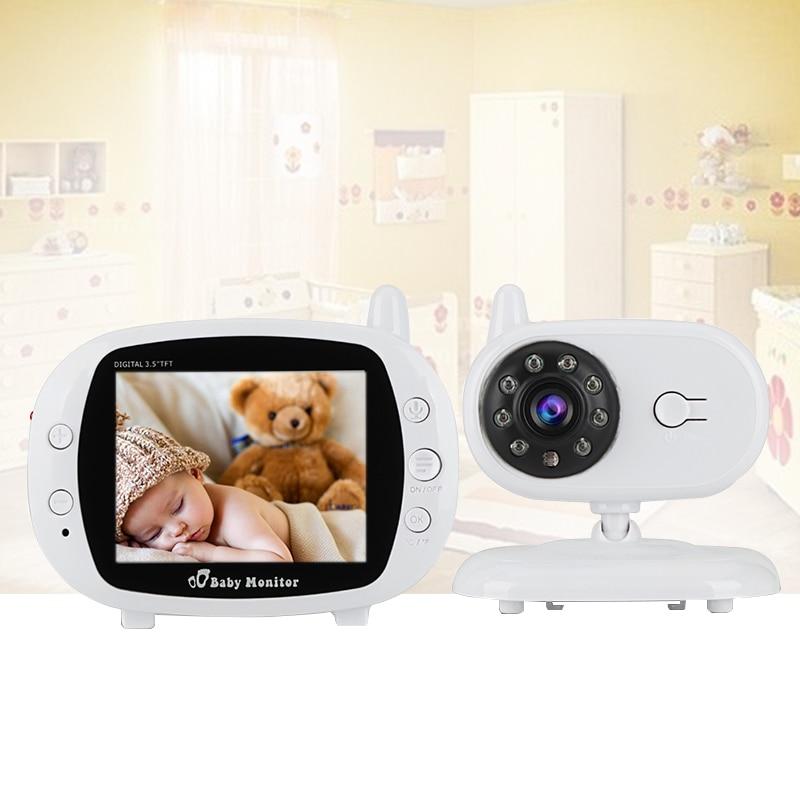 babykam video nanny wireless camera 3.5 inch IR Night Vision 2 way Talk Lullabies Temperature Monitor babyfoon met camera nanny