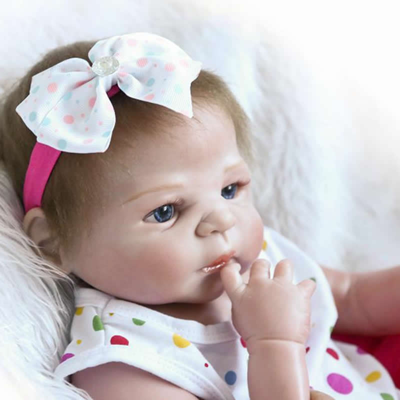 Newborn Silicone Baby Doll 23 Inch Full Silicone Vinyl Handmade Reborn Babies Lifelike Girl Body Toy Kids Birthday Xmas Gift fashion reborn baby doll girl full body silicone vinyl 58cm 23inch realistic newborn baby doll kids birthday christmas gift