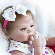 Yenidoğan Silikon Baby Doll 23 Inç Tam Silikon Vinil El Yapımı Reborn Bebekler Gerçekçi Kız Vücut Oyuncak Çocuklar Doğum Günü Noel Hediye