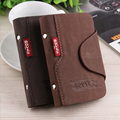 Fashion Women's Men's Cowhide Leather Card ID Holders Vintage Hasp Design PU Credit Card Holder