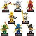 8 Unids/lote Legoes Ninjagoes Figuras Super Heroes Con Armas Ninja Kai Lloyd Cole Nya Película de Batman Bloques de Construcción Para Niños Juguete regalo