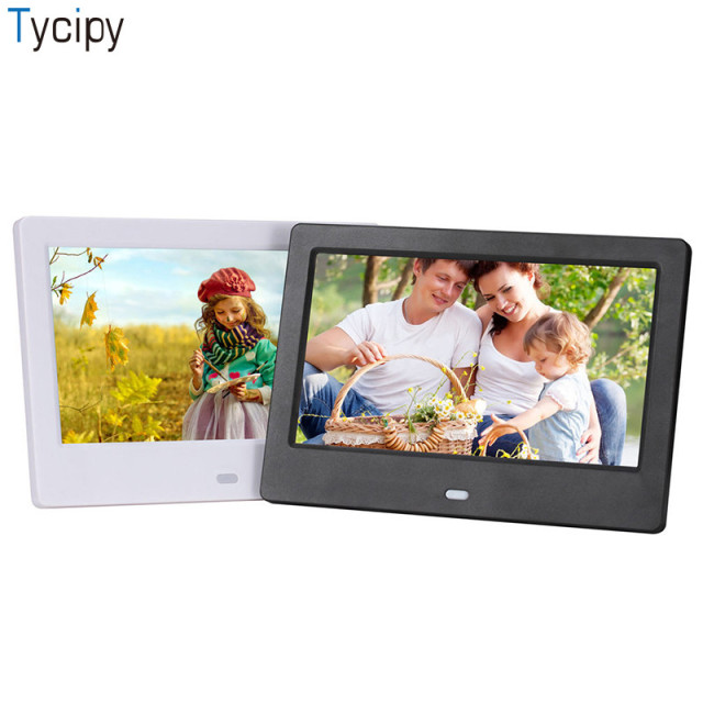 Tycipy 7 Inch Digital Photo Frame Hd 1024600 Led Display Playback