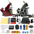 Solong Tattoo Principiante 2 Rotary Tattoo Machine Guns Kits Power Supply Foot Pedal 20 Apretón de Las Agujas Consejo Ink Cup TK201-38