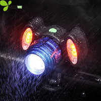 WOSAWE 2 In 1 Handlebar Bike Lights Bicycle Headlights USB Charger Mountain Road Warning Lights Alert