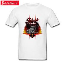 2018 최신 Robocop 시장 스피드 숍 코르벳 티셔츠 자동차 스타일링 Crewneck 100% 라멘 탑스 티즈 그레이트 오토 클래쉬 티셔츠