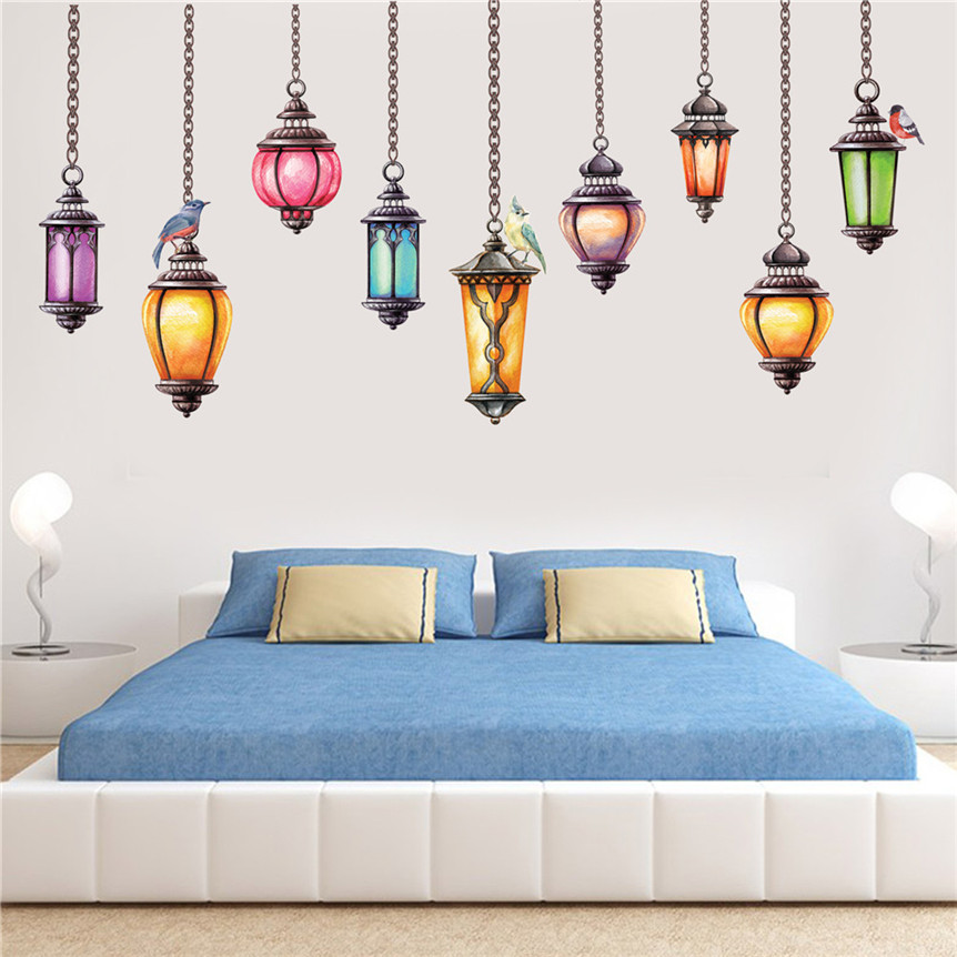 Stickers PVC Chandelier Wall Decal For Home Living Room Kids Room Decor Cartoon Sticker Drop shipping