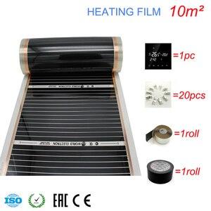 Image 3 - 10M2 Carbon Folie Kits Elektrische Fußbodenheizung Film, Zimmer Digitaler Thermostat, Heizung Film Schellen
