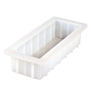 Image 1 - Moule à savon rectangulaire en Silicone, moule à pain blanc Flexible à enlever, 40 onces, 10 pouces