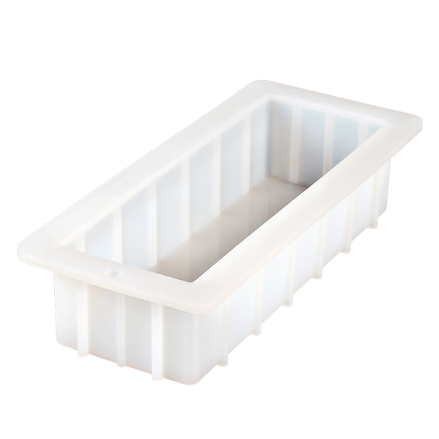 Rectangular Silicone Soap Mold 40 Ounce 10 Flexible Easy Removal White Loaf Mould