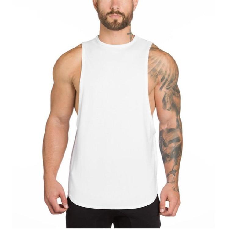 Brand Gyms Stringer Clothing Bodybuilding Tank Top Men Fitness Singlet Sleeveless Shirt Solid Cotton Muscle Vest Undershirt 31
