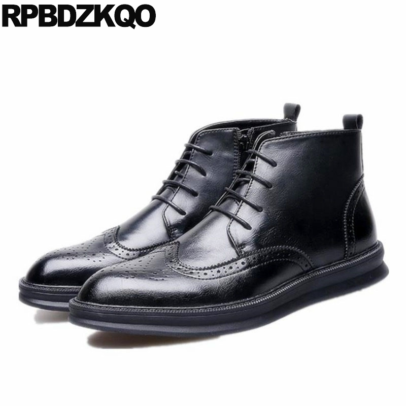478ee1e0cd3 Men Business Elevator Wedding Formal Hidden Height Increasing Shoes Oxfords  Derby Brogue Pointed Toe Dress Wingtip Black Office