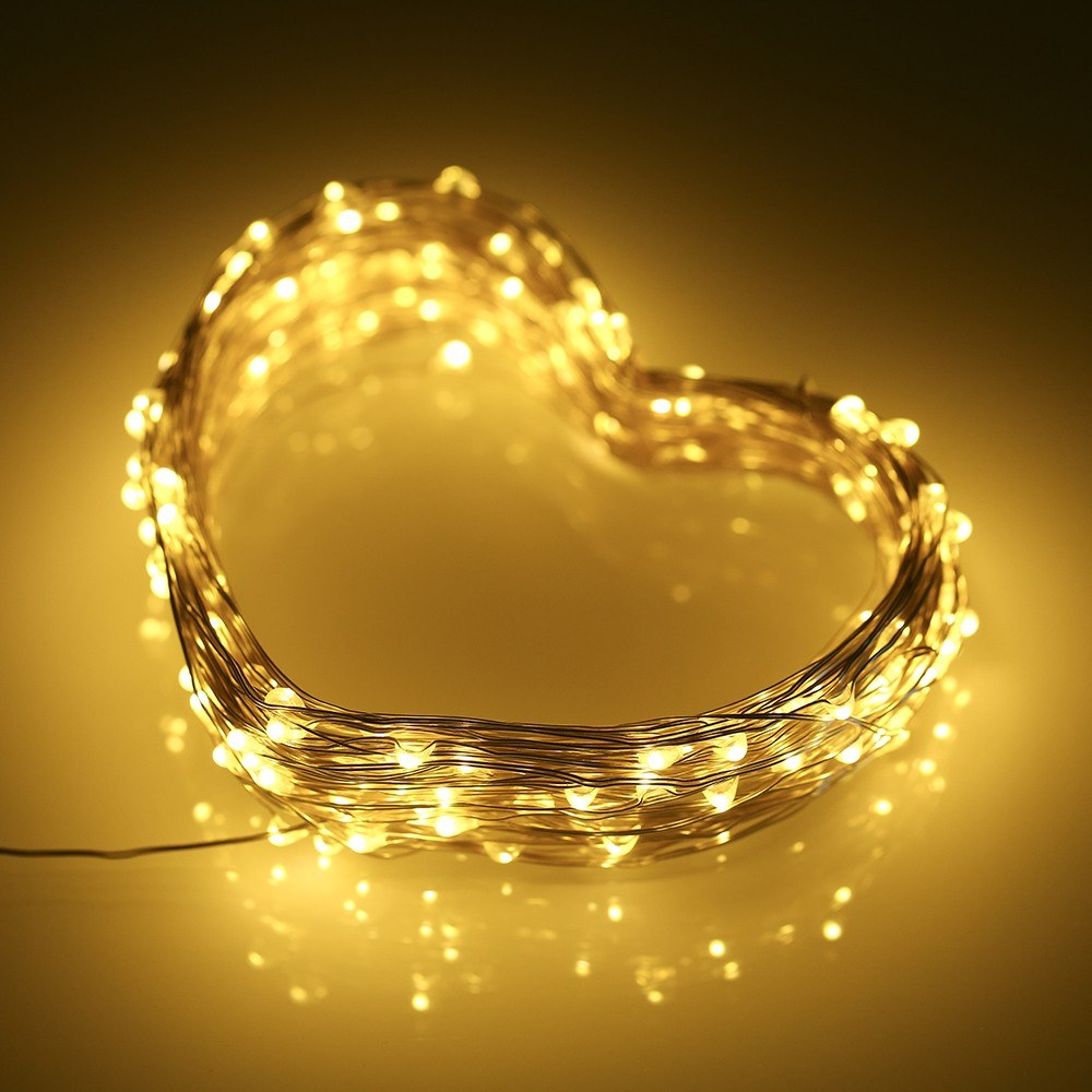 2M 5M 10M 15M 20M LED Solar Powered Energy Copper Wire Fairy String Light