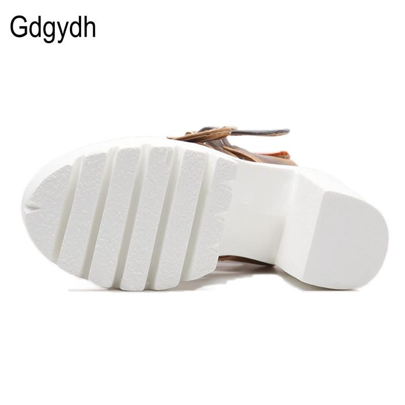 Gdgydh Women Sandals High Heels 2019 Ny Sommar Mode Buckle Kvinnlig - Damskor - Foto 4