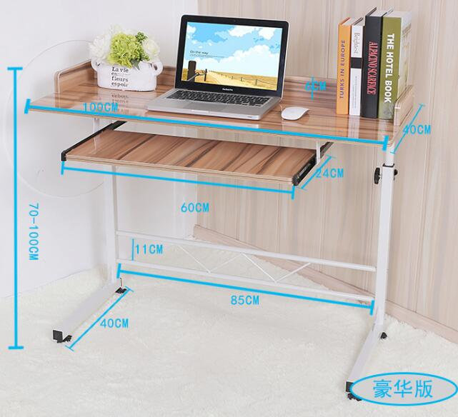 100*40CM Portable Bedside Notebook Table Mutil-Purpose Computer Desk Children Study Desk Lazy Laptop Desk With Keyboard Tray 120 45cm portable bedside notebook table mutil purpose rremovable computer desk lazy laptop desk children study desk with wheels