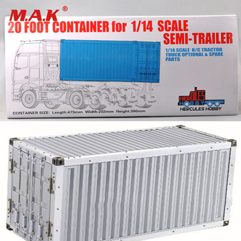 1/14 Scale 20FT Metal Frame Container Suit Actros Truck trailer Tractor Tamiya Scania Model Accessory for 1:14 Kit - discount item  26% OFF Remote Control Toys