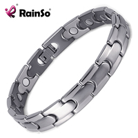 Fashion Men Titanium Steel Magnetic Bracelet Business Bangle Health Wristband Link Chain Luxury Jewelry Friends Gifts