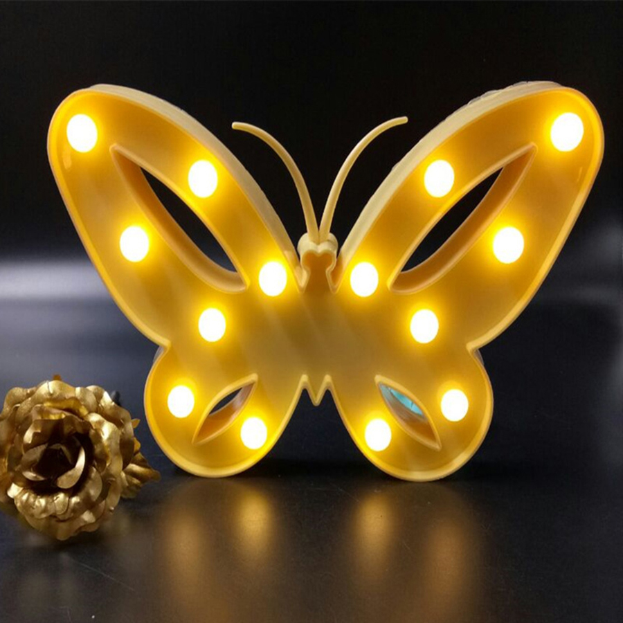 Tanbaby Butterfly Led Novelty lamp AA battery powered Wall Light ...