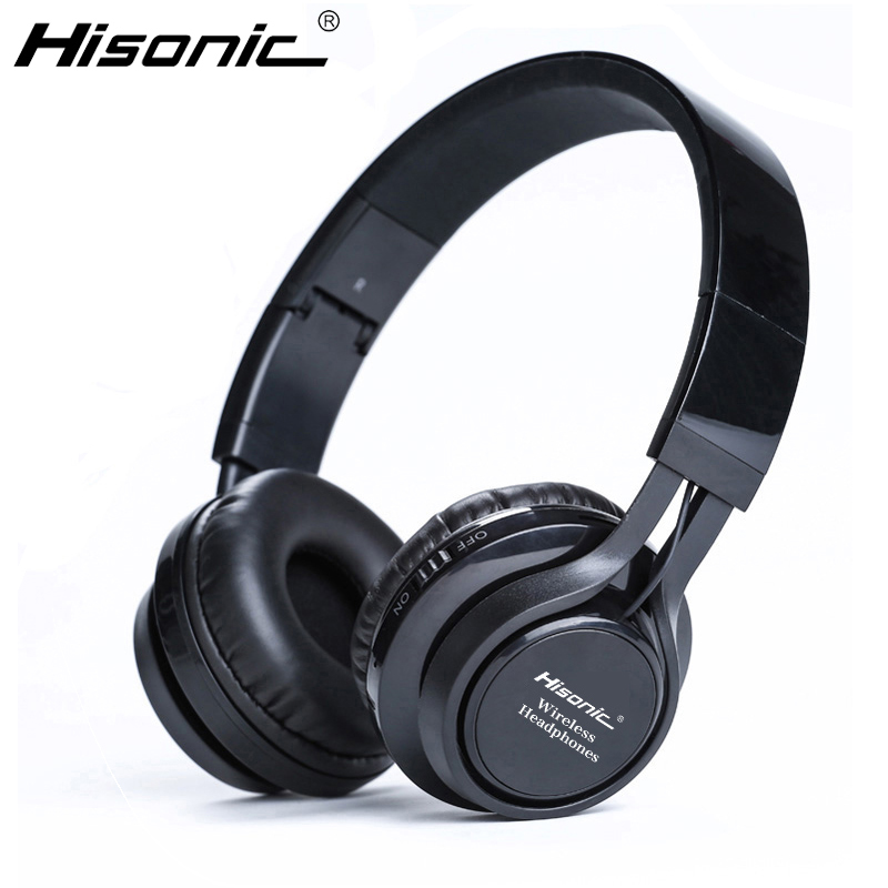 Hisonic Wireless Bluetooth Headset Headphone Foldable durable Noise Cancelling Earphone With Mic Handsfree For iPhone xiaomi