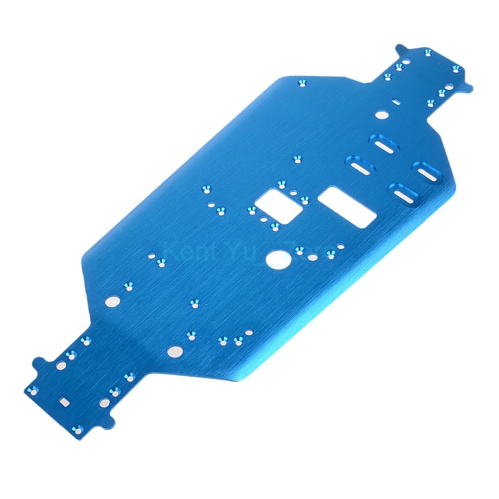 06056 Blauwe Metalen Chassis Rc Hsp Voor 1/10 Originele Deel Off-road Buggy/truck, Voor Een Verscheidenheid Van Modellen