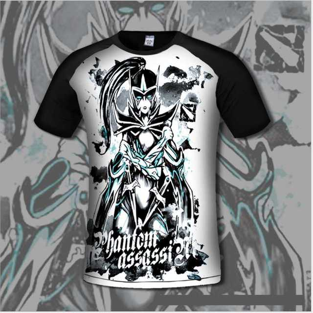 Chinoiserie Dota 2 Для мужчин's футболка удобные Dota2 Аниме футболки Повседневное геймер Костюмы гибкие с коротким рукавом модная рубашка
