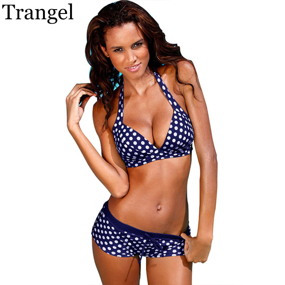 Trangel brand Bikinis Women Swimsuit Retro Push Up Bikini Set women Vintage Plus Size Swimwear Bathing Suit Swim Beach Wear 3XL kayvis 2017 new bikinis women swimsuit retro push up bikini set vintage plus size swimwear bathing suit swim beach wear 3xl