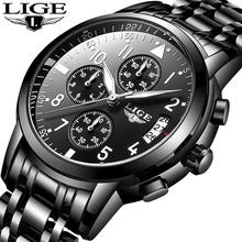 Relogio Masculino LIGE Mens Watches Top Brand Luxury Fashion Business Quartz Wat