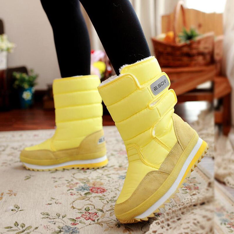 Women boots 2018 new winter shoes thick plush warm slip-resistant women snow boots waterproof platform boots size 35-42 new winter shoes 2017 women boots casual ankle boots women slip on flats platform shoes with plush warm snow boots 7e27