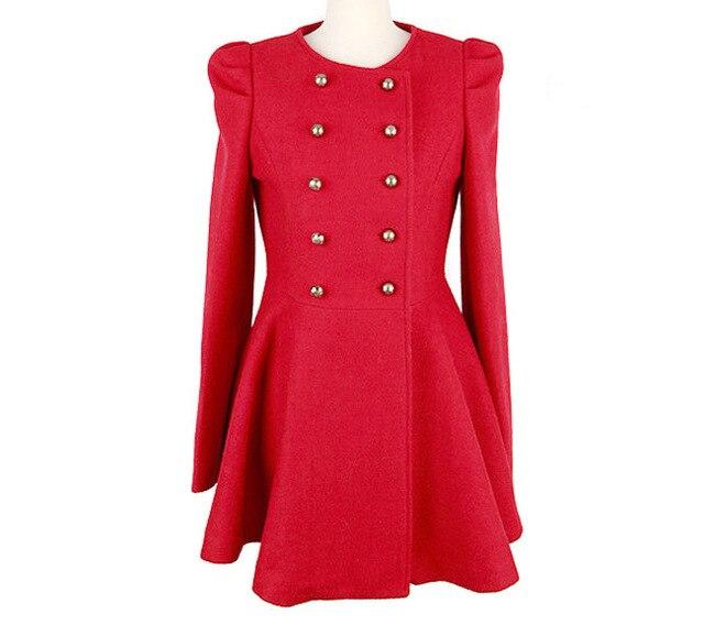 Foreign trade 2013 models wool coat woolen skirt casual windbreaker jacket Women 5188