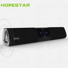 HOPESTAR A3 Touch Wireless Portable Bluetooth Speaker HIFI subwoofer Home Theater 2.1 Loudspeaker stereo rubber surround for PC  lonpoo 2017 newest bookshelf speaker 2 way 75w classic wooden loudspeaker for home theater system black
