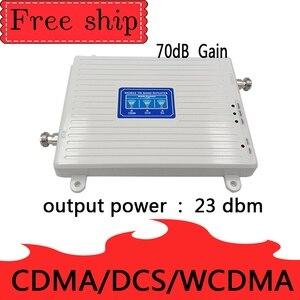 Image 3 - 70dB wzmocnienie 2g 3g 4g tri band wzmacniacz sygnału 850 1800 2100 CDMA WCDMA UMTS LTE wzmacniacz komórkowy 850/1800/2100mhz wzmacniacz