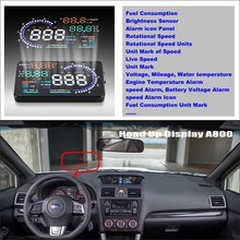 Liislee For Subaru WRX STi 2015 2016 - Safety driving car HUD head up display screen projector projection to windshield liislee for jeep wrangler 2015 2016 obd2 overspeed warning car head up display driving screen projector reflecting windshield