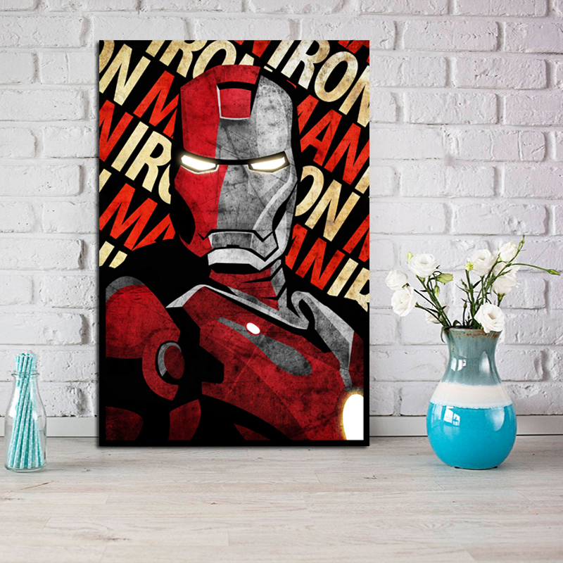 Iron Man Movie Poster From Marveles Canvas Painting Print Living Room Home Decoration Modern Wall Art Picture HD
