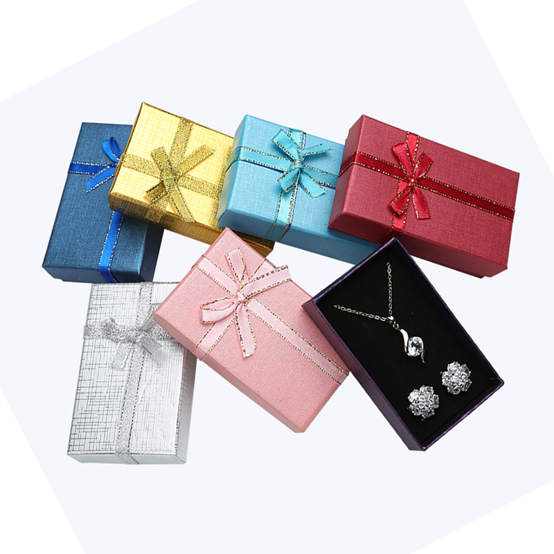 Jewelry Box 5*8 Cm Jewelry Sets Display Multi Colors Necklace/Earrings/Ring Box Paper Packaging Gift Box For Jewellery 24pcs/lot